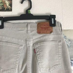 Vintage khaki/beige corduroy Levi's 550 pants